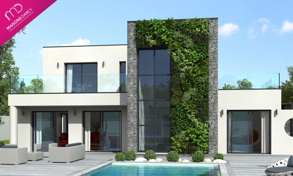 Maisons darcy constructeurs de france - Constructeur maison contemporaine toit plat avec pasio ...